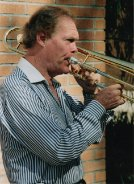 Roy Wiegand and his trombone